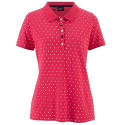"""Shirt polo """"pique"""", w kropki bonprix czerwono-biały w kropki"""