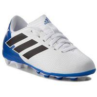 Piłka nożna, Buty adidas - Nemeziz Messi 18.4 FxG J DB2369 Ftwwht/Cblack/Fooblu