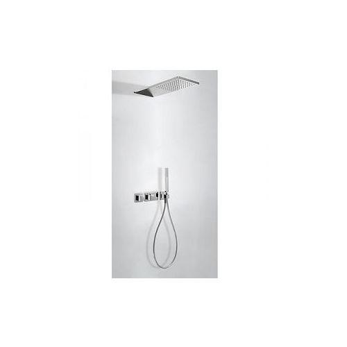 block system kompletny zestaw prysznicowy podtynkowy termostatyczny 2-drożny deszczownica 210x550 mm chrom 20725202 marki Tres
