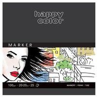 Bloki, Blok do markerów ART 20x20 cm 25K 100g Happy Color