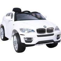 Pojazdy na akumulator, HECHT BMW X6 WHITE SAMOCHÓD TERENOWY ELEKTRYCZNY AKUMULATOROWY AUTO JEŹDZIK POJAZD ZABAWKA DLA DZIECI + PILOT DYSTRYBUTOR AUTORYZOWANY DEALER HECHT promocja (-7%)