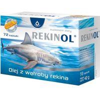 Witaminy i minerały, Rekinol 500 mg 72 kaps.