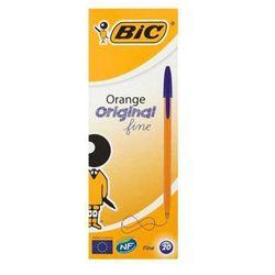 BIC 20szt Orange Original Fine Niebieski długopis