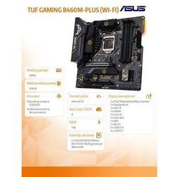 Asus Płyta główna TUF GAMING B460M-PLUS ( WI-FI) s1200 4DDR4 DP/HDMI mATX
