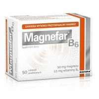 Witaminy i minerały, MAGNEFAR B6 x 50 tabletek - 60 tabletek