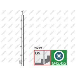 Poler-supek D42,4/5x12mmm,h100cm schody AISI304, D