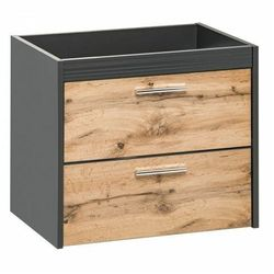 Wisząca szafka łazienkowa pod umywalkę - Madryt 3X Antracyt