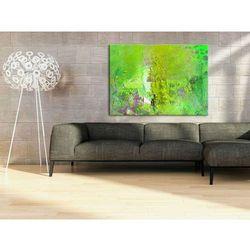 Obraz ręcznie malowany w odciniach limonki 70x100