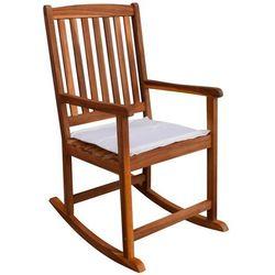 Ogrodowy fotel bujany z drewna akacjowego