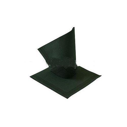 Serwetki papierowe, SERWETKI DESEROWE 38 x 38 cm czarne z paskiem