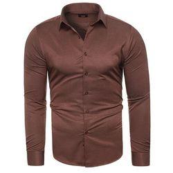 Koszula męska długi rękaw C.S.S 275 - bordowa