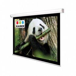 Ekran ścienny elektrycznie rozwijany Kauber White Label 180x180cm, 1:1, Matt White Plus