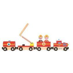 Straż pożarna pociąg drewniany Janod - Duża J08540