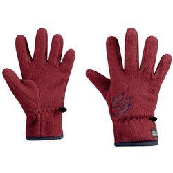 Rękawice dla dzieci BAKSMALLA FLEECE GLOVE KIDS dark lacquer red