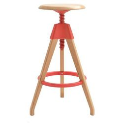 Hoker TOM czerwony - polipropylen, drewno bukowe
