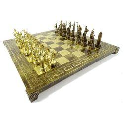 Ekskluzywne, duże szachy metalowe - Mitologia; 36x36cm, S4c