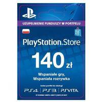Klucze i karty przedpłacone, Sony PlayStation Network 140 zł [kod aktywacyjny]