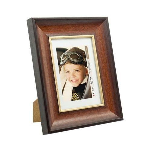 Ramki na zdjęcia, Ramka na zdjęcia 10 x 15 cm brązowo-złota