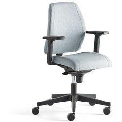 Krzesło biurowe LANCASTER, niskie oparcie, niebieskoszary