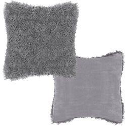 Poszewka dekoracyjna na poduszkę, włochacz 40x40cm grafit