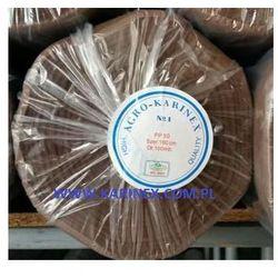 Agrowółknina ściółkujaca PP 50 g/m2 brązowa 1,6 x 100 mb. BEZ UV. Rolka o wadze 8,6 kg.