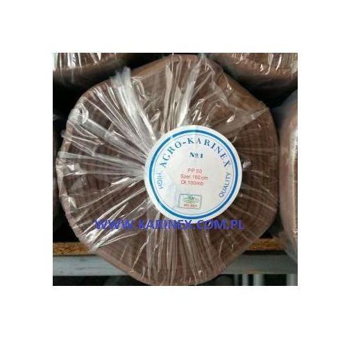 Folie i agrowłókniny, Agrowółknina ściółkujaca PP 50 g/m2 brązowa 1,6 x 100 mb. BEZ UV. Rolka o wadze 8,6 kg.