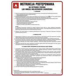 Instrukcja postępowania na wypadek pożaru lub innego miejscowego zagrożenia
