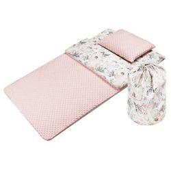 Śpiwór dla dzieci do spania Flowers różowe- minky
