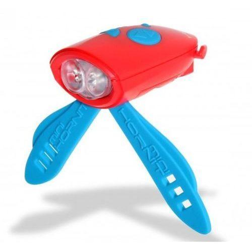 Oświetlenie rowerowe, Światełko i klakson na rower i hulajnogę czerwony