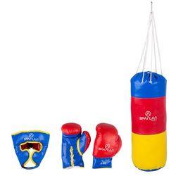 Zestaw bokserski Spartan worek 1 kg + ochraniacz głowy + rękawice