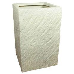 Donica kompozytowa Cermax kwadrat 30 x 30 x 47 cm biały