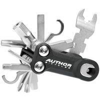 Narzędzia rowerowe i smary, 10-000045 Zestaw narzędzi/ kluczy (scyzoryk) Author Toolbox 10 10 w 1 czarno-srebrne
