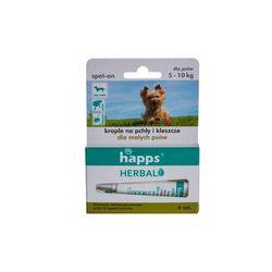 HAPPS Herbal - krople na pchły i kleszcze dla psów małych ( do 10 kg)