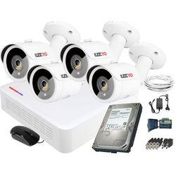 Zestaw do monitoringu 4 kamery IR 30m Rejestrator Hikvision FullHD Dysk 1TB