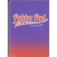Zeszyty, Kołozeszyt Pukka Pad Project Book Fusion a4 200k kratka fioletowy 8411-fus