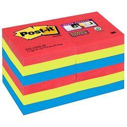 Karteczki POST-IT Super Sticky 622-12SS-JP 47,6x47,6mm 12x90 kart. paleta bora bora
