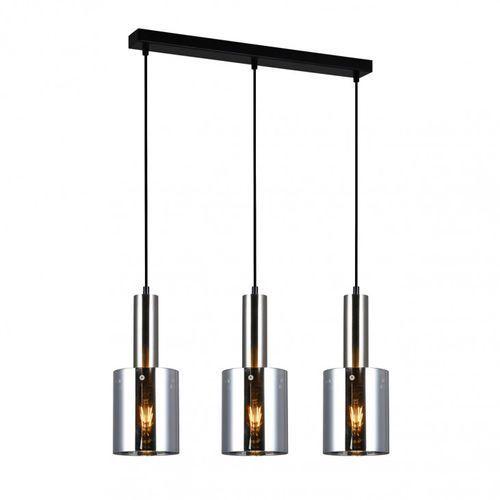 Lampy sufitowe, Italux Sardo PND-5581-3-SC+SG lampa wisząca zwis 3x40W E27 nikiel satynowany/dymiony