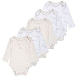 mothercare UNISEX MY FIRST LITTLE LAMB 5 PACK Body white/nude