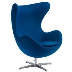 Fotel Jajo inspirowany Egg kaszmir - niebieski