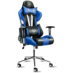 Fotel DIABLO X-Eye Czarno-biało-niebieski + Zamów z DOSTAWĄ JUTRO! + DARMOWY TRANSPORT!