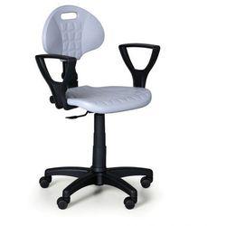 Krzesło PUR, stały kontakt z podłokietnikami, do twardych podłóg