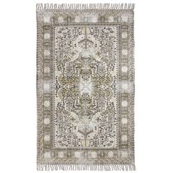HK Living Łatany dywan bawełniany z nadrukiem i frędzlami (120x180) TTK3011
