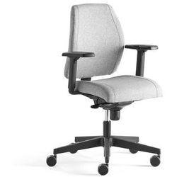 Krzesło biurowe LANCASTER, niskie oparcie, srebrnoszary