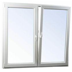 Okno PCV rozwierne + rozwierno-uchylne trzyszybowe 1465 x 1435 mm symetryczne białe