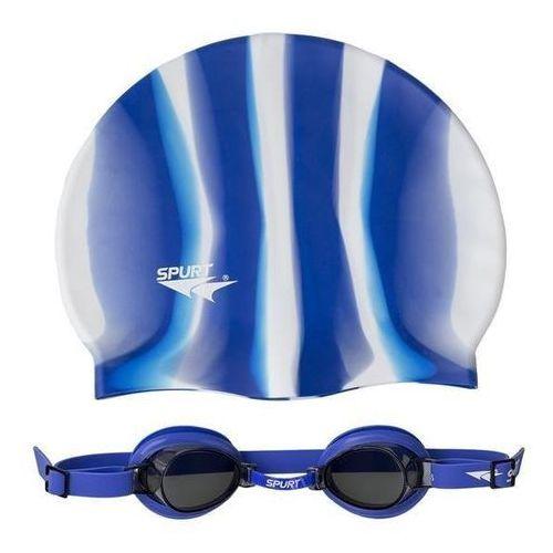 Czepki, Okulary pływackie SPURT 1100 AF 12 + czepek MI 1