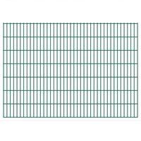 Przęsła i elementy ogrodzenia, vidaXL Panele ogrodzeniowe 2D z słupkami 2008x1430 mm 48 m Zielone Darmowa wysyłka i zwroty