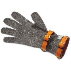 Rękawica metalowa z pomarańczowymi paskami, średnia, rozmiar XL | GIESSER, 9590 08