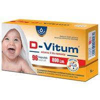 Witaminy i minerały, D-VITUM 800 j.m. Witamina D dla niemowląt x 96 kapsułek twist-off