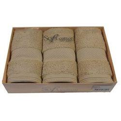 Zestaw podarunkowy małych ręczników DELUXE Jasnobeżowy