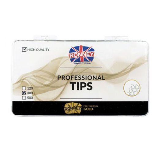 Tipsy, Ronney PROFESSIONAL TIPS FRENCH TRANSPARENT Tipsy french z małą kieszonką, bezbarwne (300 szt.)